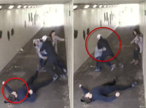 2 gã côn đồ nằm lê lết vì chọc giận vợ cao thủ võ - 1