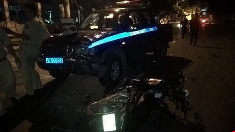 Xe cảnh sát 113 gây tai nạn chết người - 1