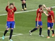 Bóng đá - Chi tiết Tây Ban Nha - CH Séc: Người hùng Pique (KT)