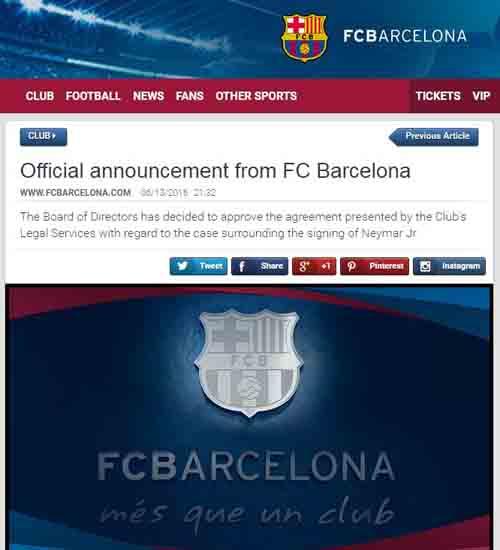Barca trốn thuế: Mất 5,5 triệu euro vì Neymar - 2