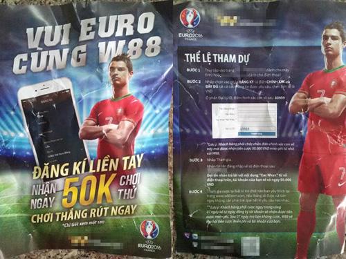 Cần Thơ: Phát tờ rơi mời chào… cá độ bóng đá Euro 2016 - 1
