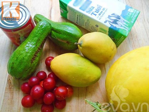 Cách làm sữa chua trái cây thơm ngon, giải nhiệt mùa hè - 1