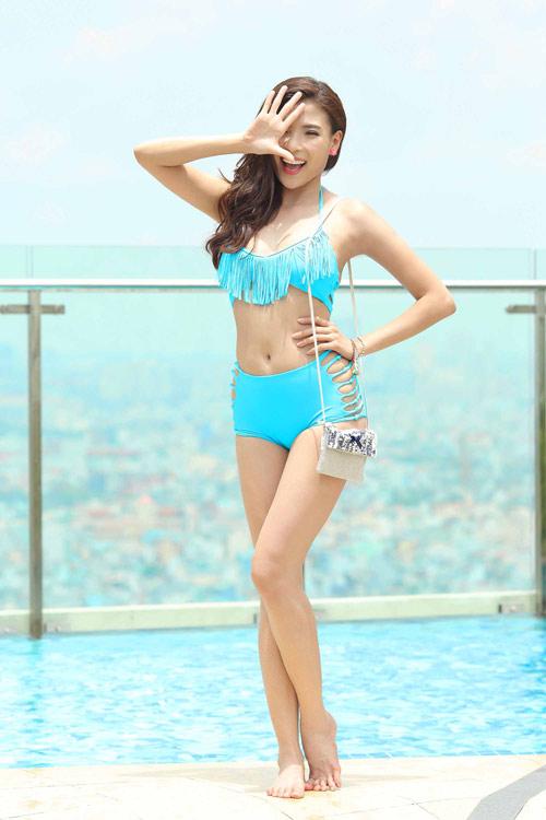 Ngắm Thúy Diễm, Hồng Loan khoe dáng cùng bikini - 1