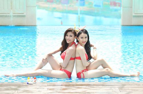 Ngắm Thúy Diễm, Hồng Loan khoe dáng cùng bikini - 6