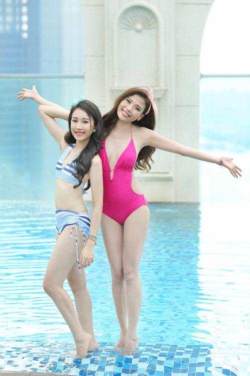 Ngắm Thúy Diễm, Hồng Loan khoe dáng cùng bikini - 7