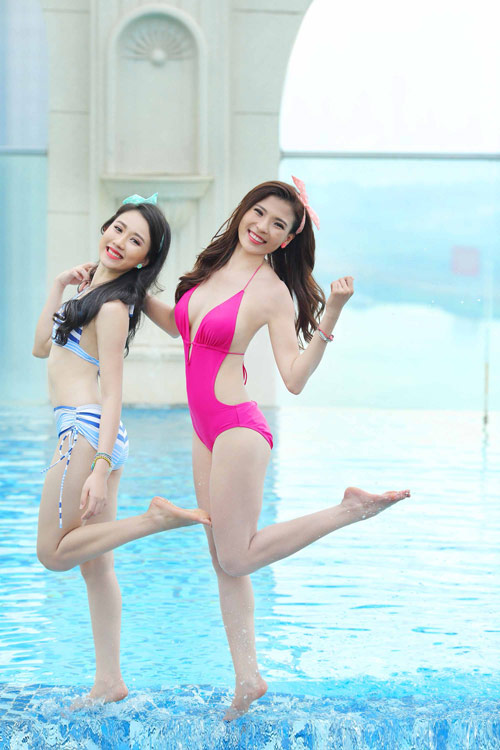 Ngắm Thúy Diễm, Hồng Loan khoe dáng cùng bikini - 8