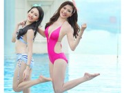 Ngắm Thúy Diễm, Hồng Loan khoe dáng cùng bikini