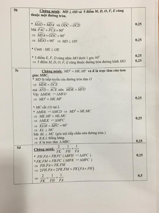 TP HCM công bố đáp án đề thi tuyển sinh lớp 10 - 6