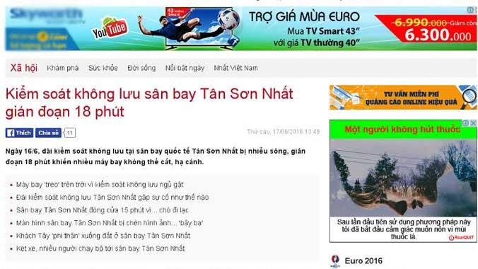 Mất sóng không lưu tại Tân Sơn Nhất là hoang tin - 1
