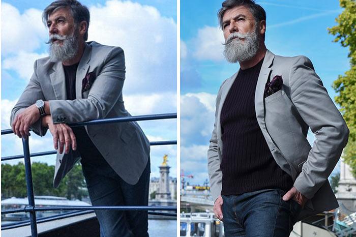 """Bất ngờ với độ """"chất"""" của người mẫu nam 69 tuổi - 4"""