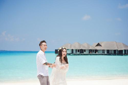 """Ảnh cưới lãng mạn tại Maldives của """"hot girl dao kéo"""" - 9"""