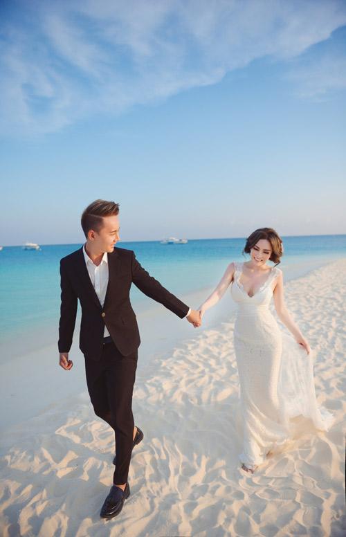 """Ảnh cưới lãng mạn tại Maldives của """"hot girl dao kéo"""" - 11"""
