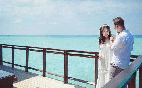 """Ảnh cưới lãng mạn tại Maldives của """"hot girl dao kéo"""" - 8"""