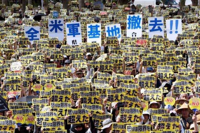 """65.000 người Nhật biểu tình đòi """"dẹp"""" căn cứ quân sự Mỹ - 2"""