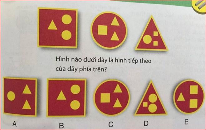 Bài toán hóc búa: Tìm hình phù hợp với quy luật - 1