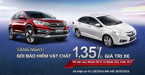 Honda áp dụng gói bảo hiểm hấp dẫn cho 2 dòng xe - 1