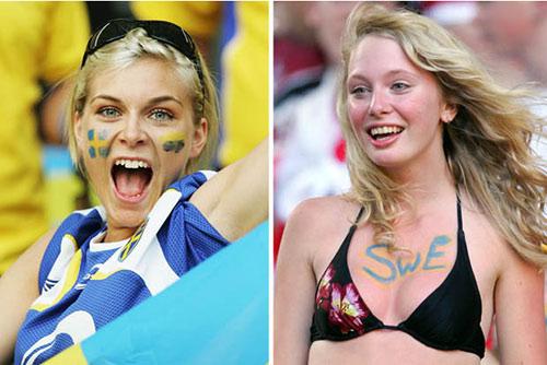 """Fan nữ xinh đẹp """"đốt cháy"""" khán đài Euro 2016 - 1"""