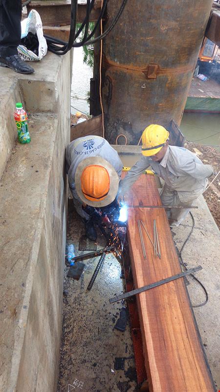 Chùm ảnh: Cầu Ghềnh mới trước ngày thông tàu - 5