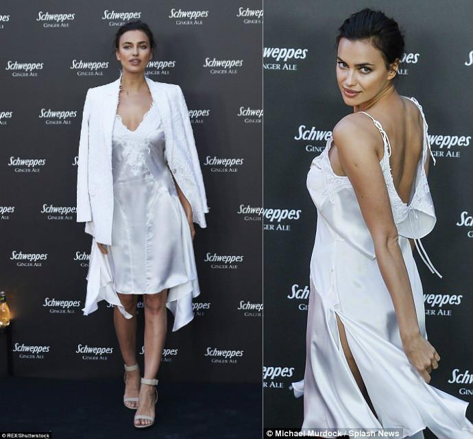 Irina Shayk mặc váy ngủ đi dự tiệc hạng sang - 3