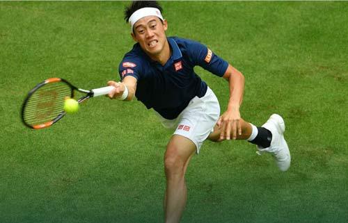 """Wimbledon: """"Vào tứ kết là được"""" với Nishikori - 1"""