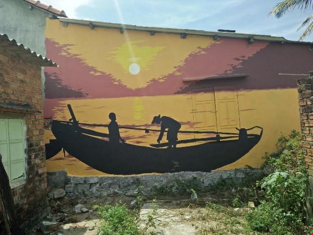 Độc đáo ngôi làng bích họa ở TP Tam Kỳ - 7