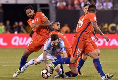 Góc ảnh: Nước mắt của Messi ngày Chile đăng quang - 1