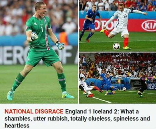 """Thua sốc Iceland, ĐT Anh bị gọi là """"nỗi nhục quốc gia"""" - 1"""