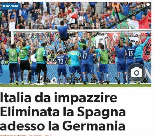 Báo chí Italia hả hê vì báo thù được Tây Ban Nha - 1