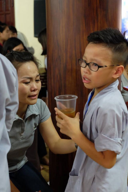 Theo chân trẻ Hà thành lên chùa tham dự khóa tu mùa hè - 16