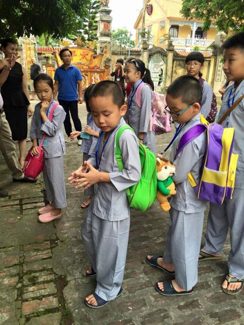 Theo chân trẻ Hà thành lên chùa tham dự khóa tu mùa hè - 3
