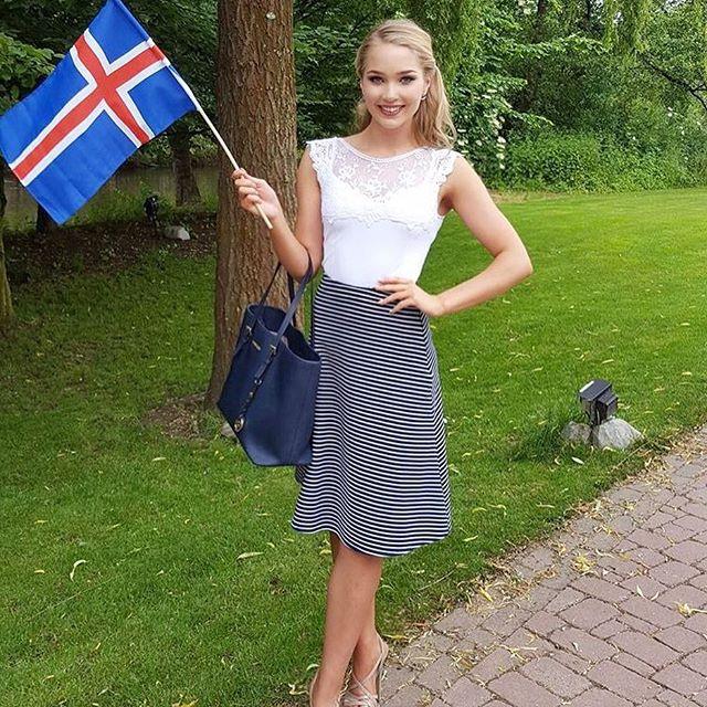 Cô gái nổi như cồn sau khi Iceland đánh bại tuyển Anh - 7