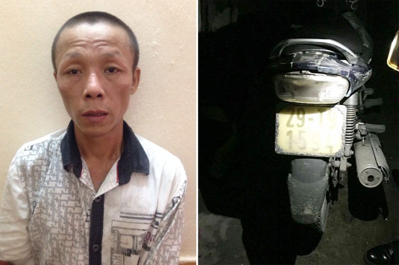 Cảnh sát đâm ngã xe tên cướp giật iPhone của thiếu nữ - 1