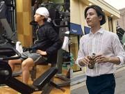 Ảnh Won Bin trong phòng tập gym khiến fan tò mò