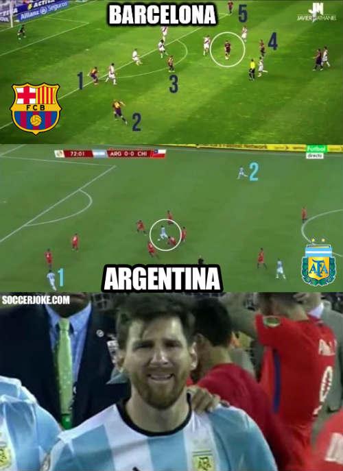 """Sốc với hình ảnh Messi """"một mình cân cả thế giới"""" - 4"""
