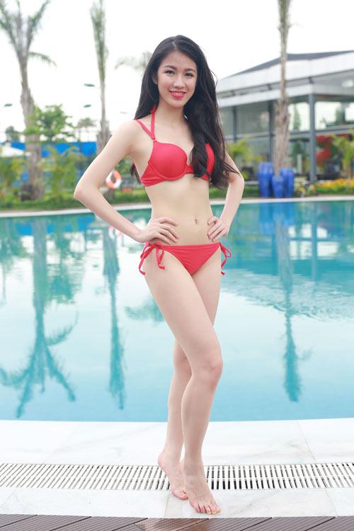 Thí sinh Hoa hậu Bản sắc Việt khoe dáng với bikini - 5