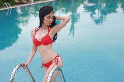 Thí sinh Hoa hậu Bản sắc Việt khoe dáng với bikini - 12
