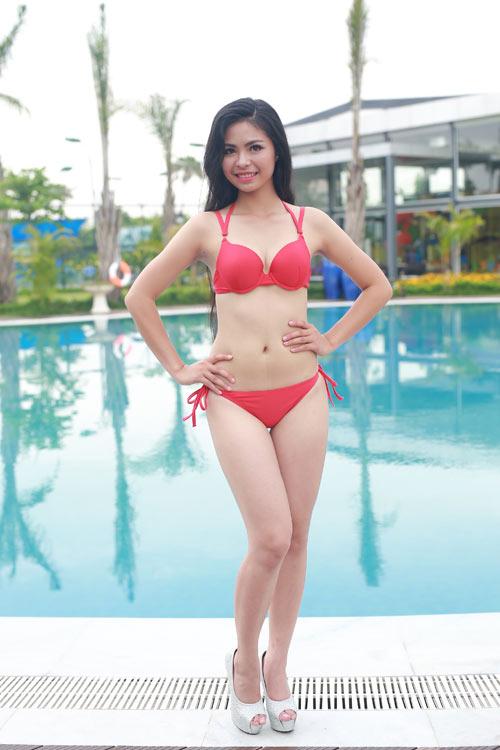 Thí sinh Hoa hậu Bản sắc Việt khoe dáng với bikini - 14