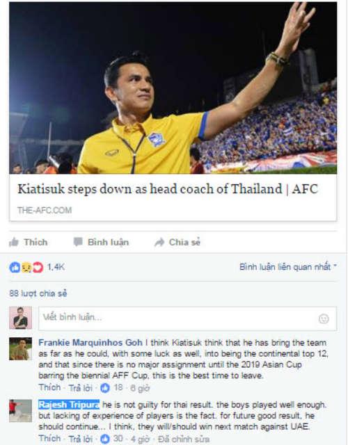 Kiatisak rời ĐT Thái Lan, NHM muốn Ranieri kế vị - 2