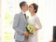 Hot girl Tú Linh xinh đẹp bên chú rể trong ngày cưới