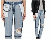 Choáng với quần jean lộn trái 1000 USD đắt như tôm tươi