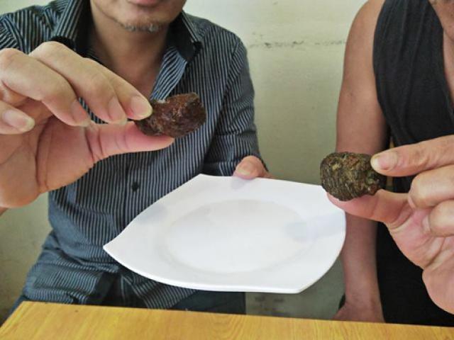 Mổ dê, phát hiện vật thể nghi dương bảo quý hiếm