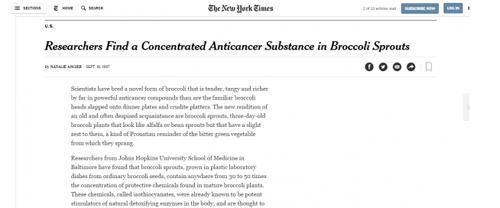 Chất ngừa ung thư 3 lần vinh danh trên tạp chí New York Times đã có ở Việt Nam - 3