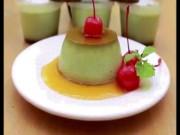 Ẩm thực - Tuyệt chiêu làm bánh flan trà xanh hút hồn các tín đồ matcha