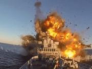 """Sức mạnh tên lửa Mỹ dùng để dội  """" bão lửa """"  ở Syria"""