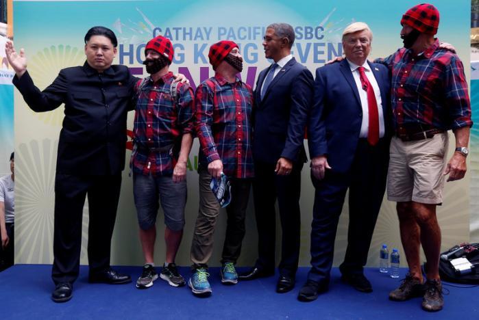 """""""Trump, Obama và Kim Jong-un"""" gây náo loạn Hồng Kông - 6"""