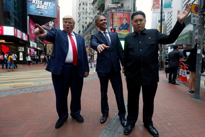 """""""Trump, Obama và Kim Jong-un"""" gây náo loạn Hồng Kông - 4"""