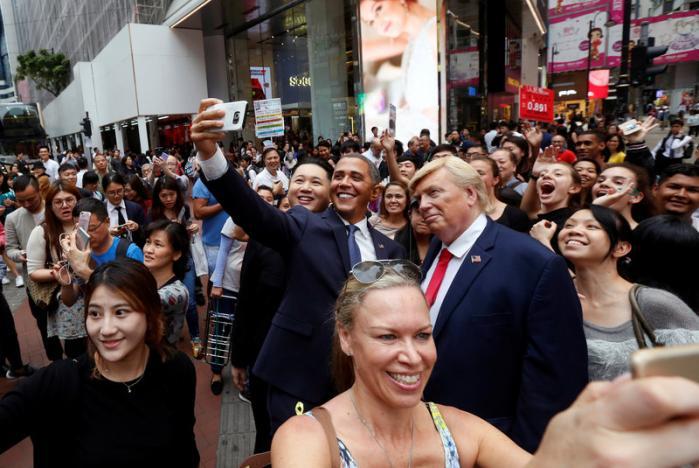 """""""Trump, Obama và Kim Jong-un"""" gây náo loạn Hồng Kông - 5"""