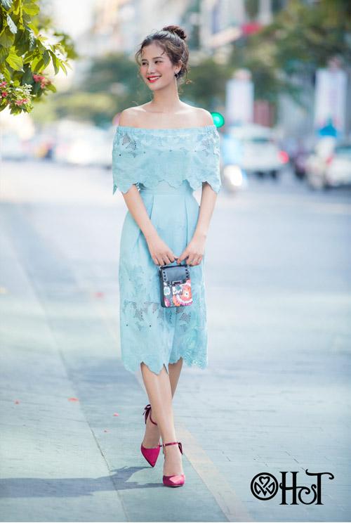 Hương Ly xuất hiện mới lạ trong BST mới của thương hiệu H&T - 1
