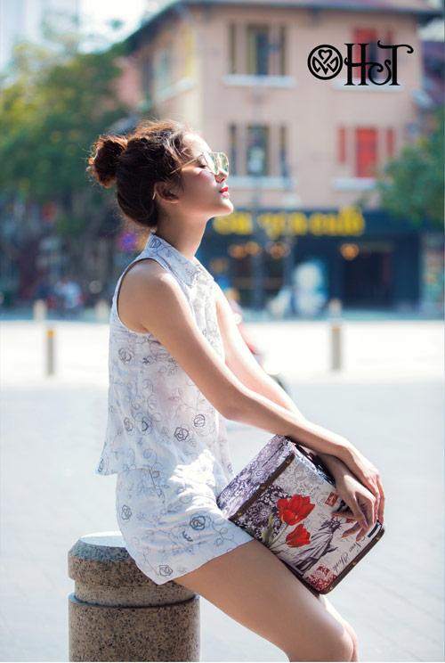 Hương Ly xuất hiện mới lạ trong BST mới của thương hiệu H&T - 4