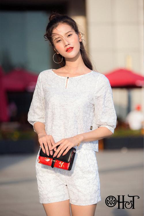 Hương Ly xuất hiện mới lạ trong BST mới của thương hiệu H&T - 11